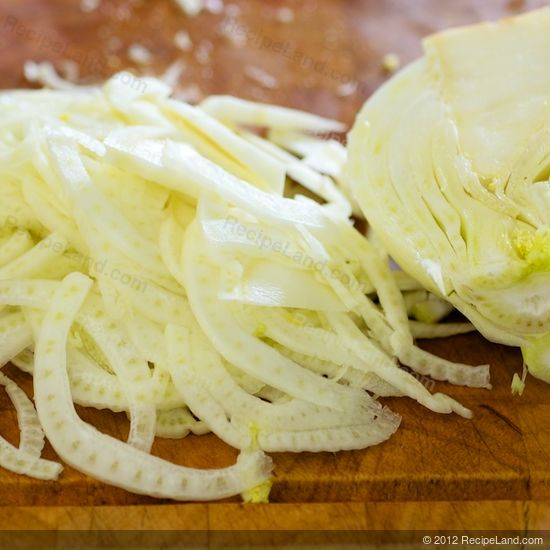 sliced fennel bulb
