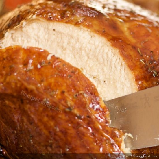 roast turkey sliced