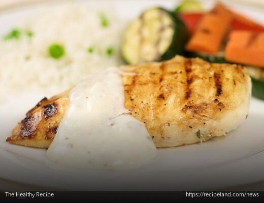 Grilled Low-fat skinless chicken breast with grilled vegetables
