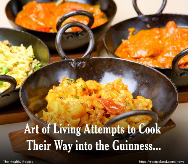 Art of Living Attempts to Cook Their Way into the Guinness Book