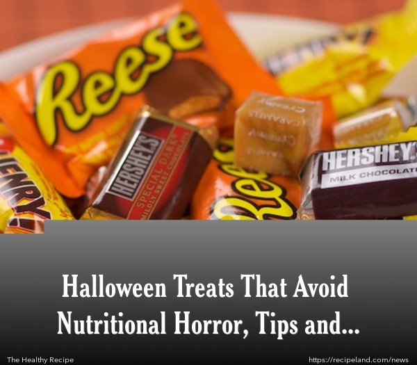 Selection of common commercial Halloween Candy
