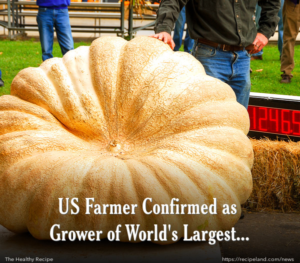 US Farmer Confirmed as Grower of World's Largest Pumpkin