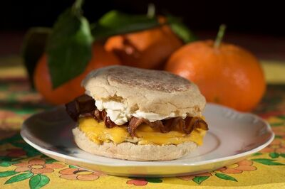 Kicked Up Homemade Egg McMuffin