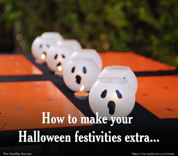 Halloween Decorations, Ghostly Pumpkin Candles