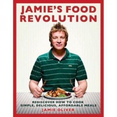 Cover of Jamie Oliver's book: Jamie's Food Revolution