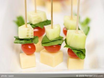 Cheese and Veggie Skewer