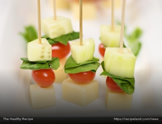 Cheese and Veggie Skewer