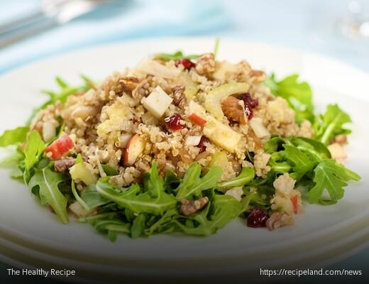 Quina, Fresh Veggies, Walnuts and Cranberry Salad