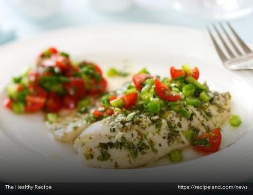White Wine and Cilantro Braised Fish