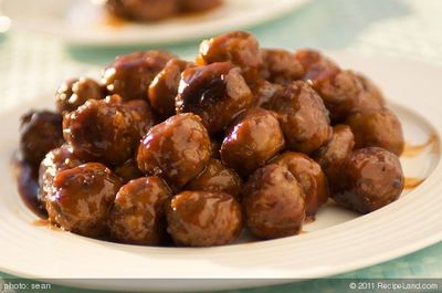 Honey Garlic Glazed Meatballs