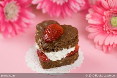 Be My Valentine Brownie Hearts