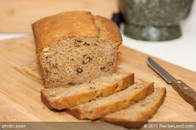 Sour Cream Banana and Walnut Bread