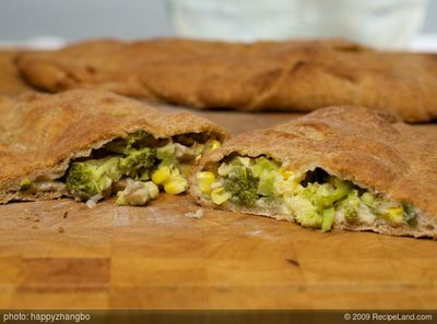 Broccoli and Corn Calzone