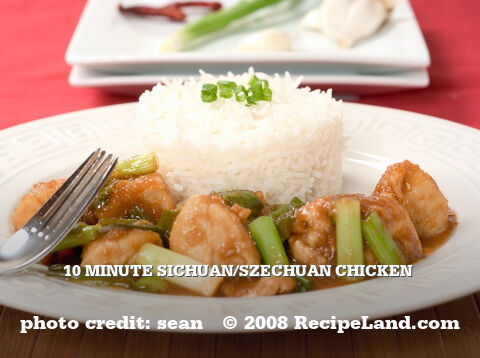 10 Minute Sichuan/Szechuan Chicken