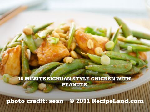 15 Minute Sichuan-Style Chicken with Peanuts