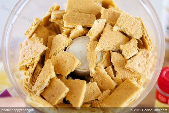 Add the crackers into a food processor.