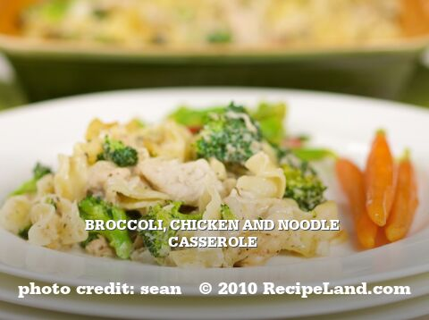 Broccoli, Chicken and Noodle Casserole