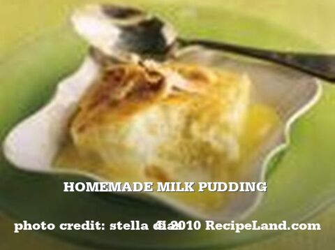 Homemade Milk Pudding