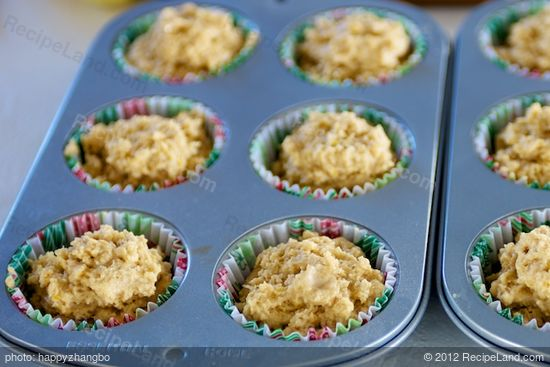 Divide the batter among 12 muffin cups.