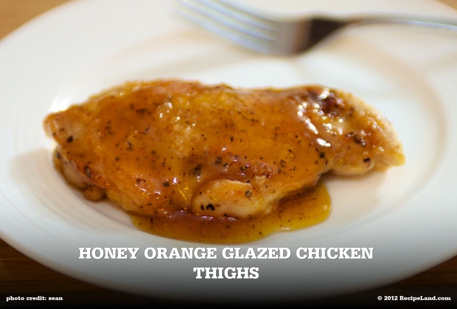 Honey Orange Glazed Chicken Thighs