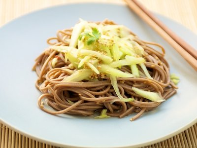 Sunomono or Japanese Noodle and Cucumber Salad