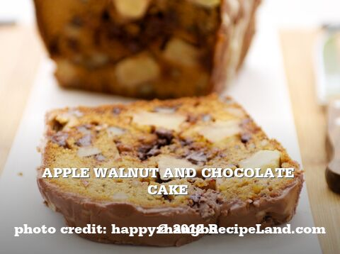 Apple Walnut and Chocolate Cake