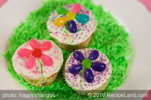 Easter Flower Cupcakes