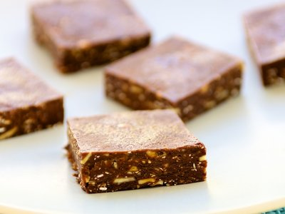 Chocolate-Cocoa Prune Squares