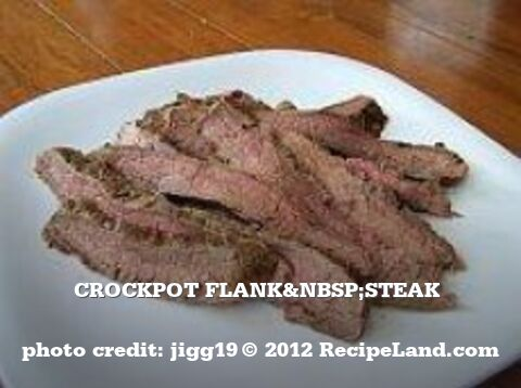 Crockpot Flank Steak
