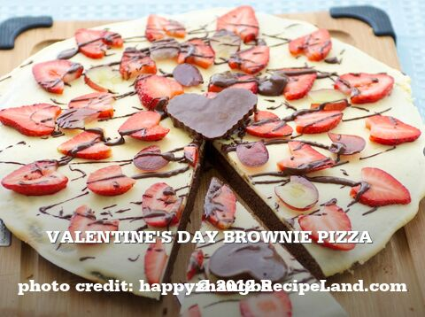 Valentine's Day Brownie Pizza