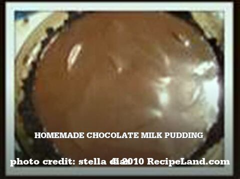 Homemade Chocolate Milk Pudding