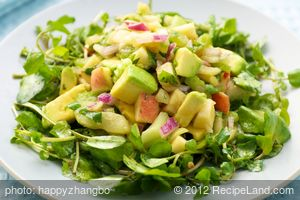 Avocado and Watercress Salad with Soy Dresssing