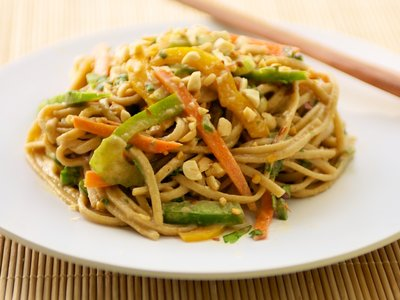 Udon Noodle Salad with Asian Peanut Sauce