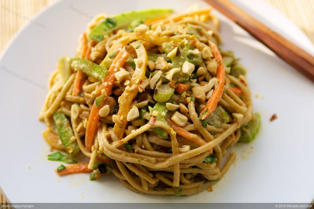 Asian noodles peanut for the
