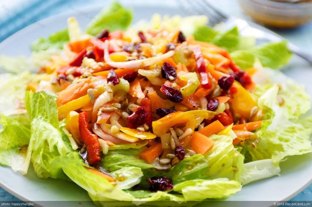Fresh Vegetable Salad With Maple Soy Vinaigrette Recipe