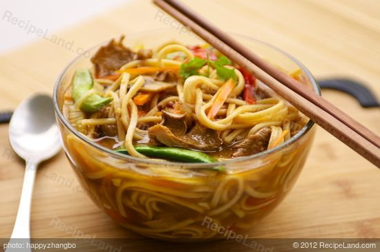 Nothing is better than a bowl of warm and hearty noodle soup in a cold day.