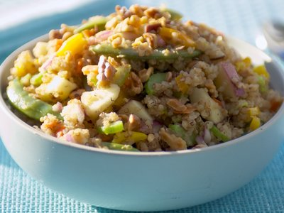 Toasted Quinoa, Apple and Walnut Salad