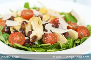 Artichoke and Baby Arugula Salad with Balsamic Vinaigrette