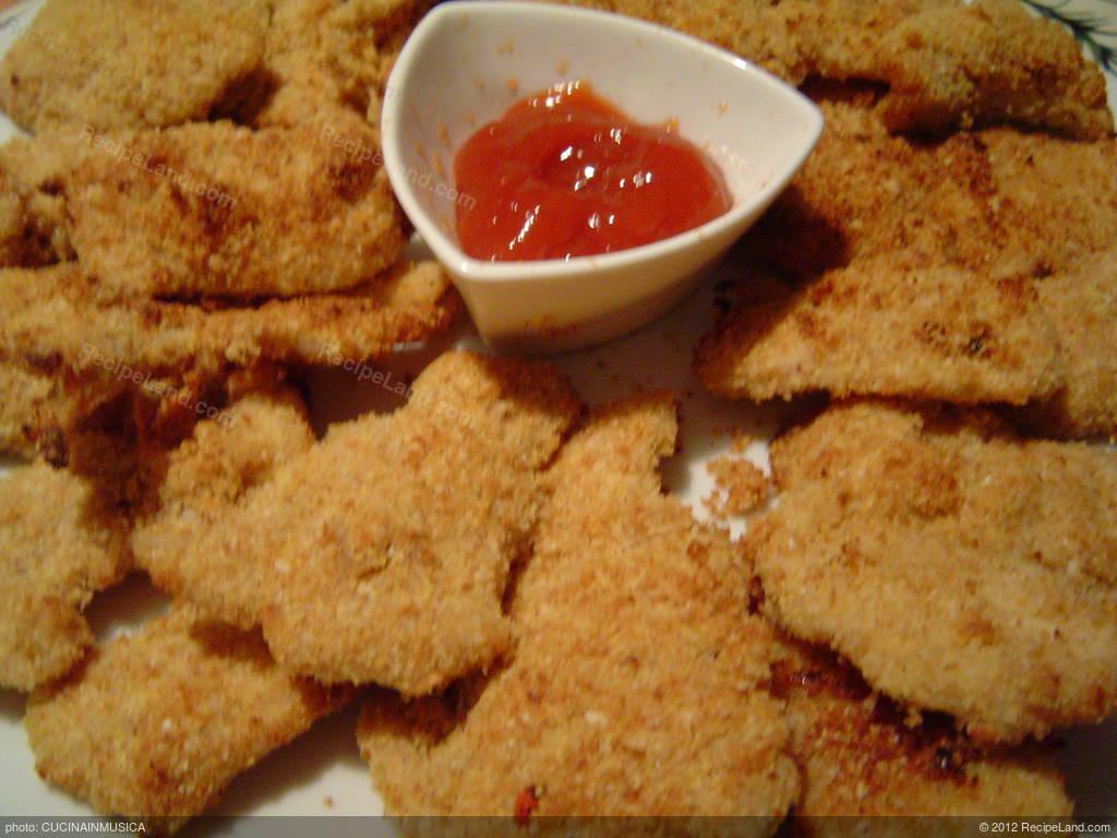 Baked Parmesan Chicken Fingers (Low Fat) Recipe
