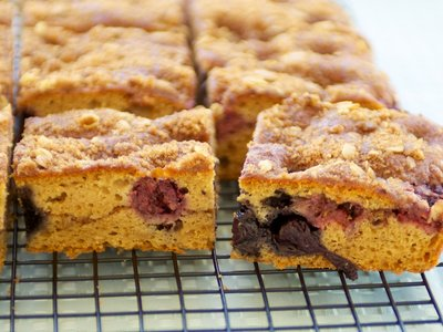 Blueberry and Sour Cream Coffeecake