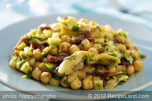 Chickpea Salad with Parsley, Lemon and Sun-dried Tomatoes