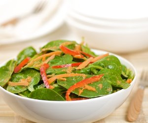 Baby Spinach Salad with Asian Ginger Dressing