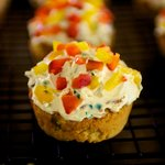 Jalapeno Corn Muffins with Savory Cream Cheese Frosting