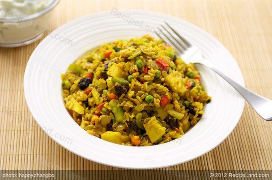 Curry Rice Salad Recipe | RecipeLand.com