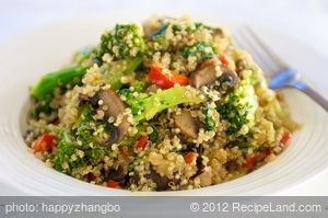 Quinoa with Asparagus, Celery and Mushrooms