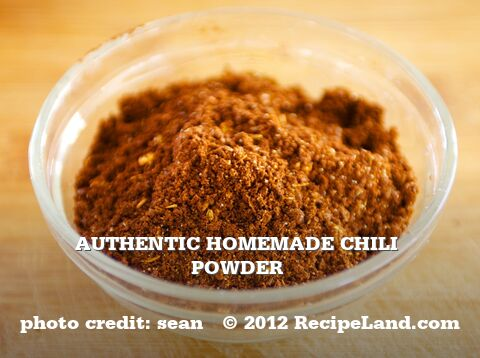 Authentic Homemade Chili Powder