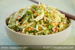 Coleslaw with Spicy Peanut Dressing