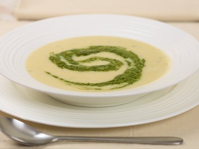 Artichoke, Leek, Potato and Garlic Soup