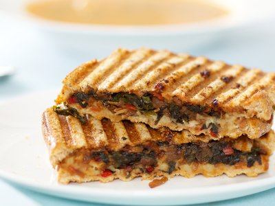 Chard Panini with Bean Spread