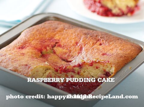 Raspberry Pudding Cake